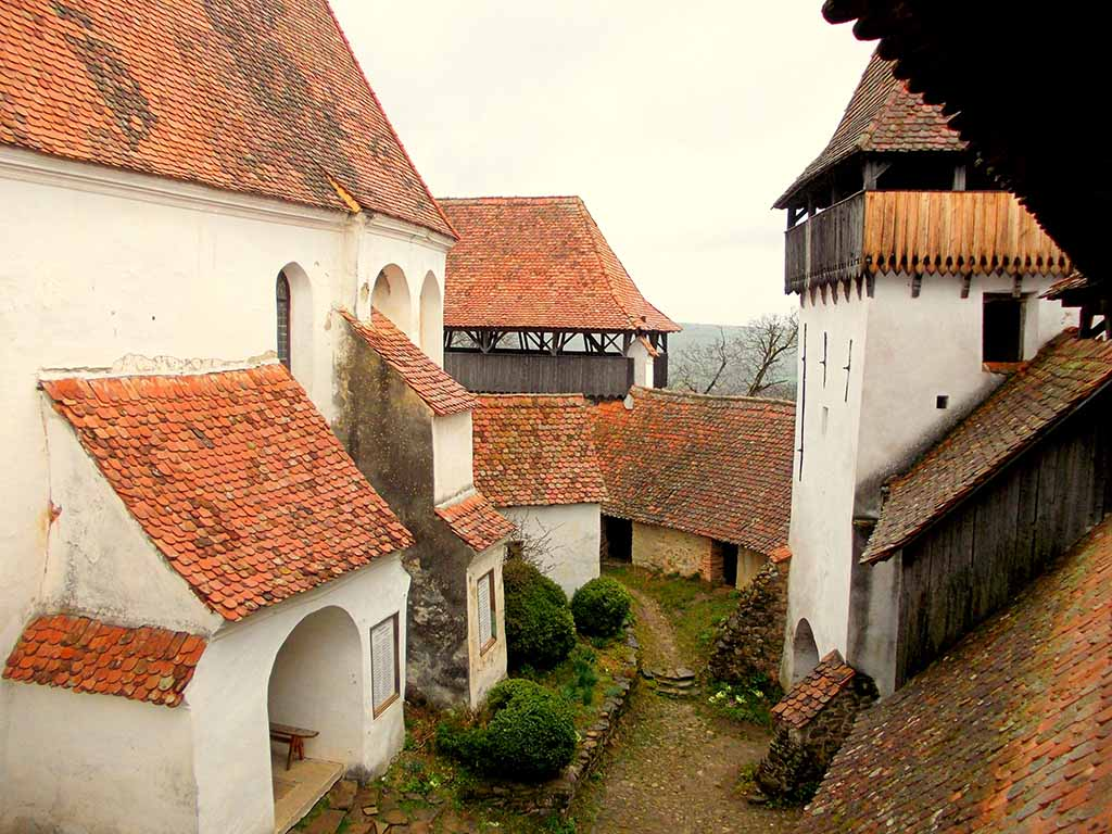 Viscri Fortified Church - interior courtyard. Credits: Unveil Romania