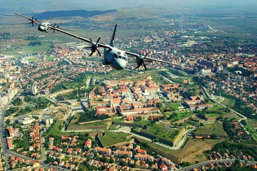 Alba Iulia Citadel - sacred land. The place where, in 1600, the Romanians united in a single country. Credits Adrian Dulau & Romanian Air Forces