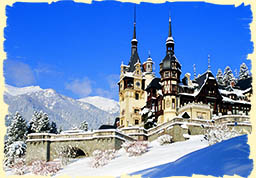 Winter in Romania Peles Castle
