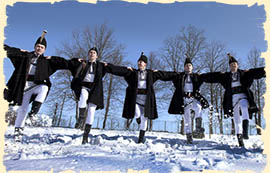 Winter in Romania - Traditional dance