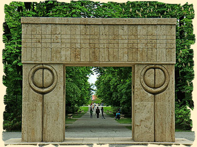 Gate of Kiss Brancusi Romania