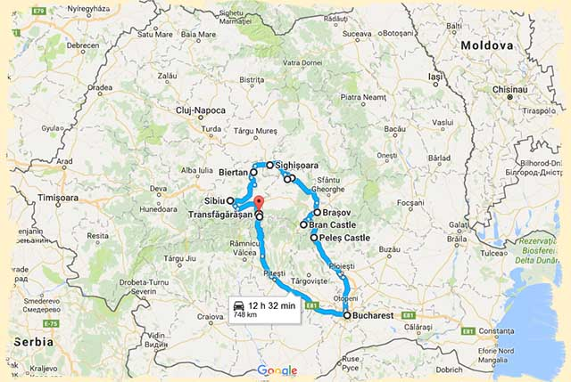 Romania itinerary 5 days